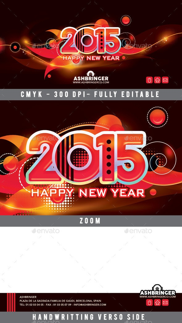 Good Wishes Happy New Year Card 2015 - Events Flyers