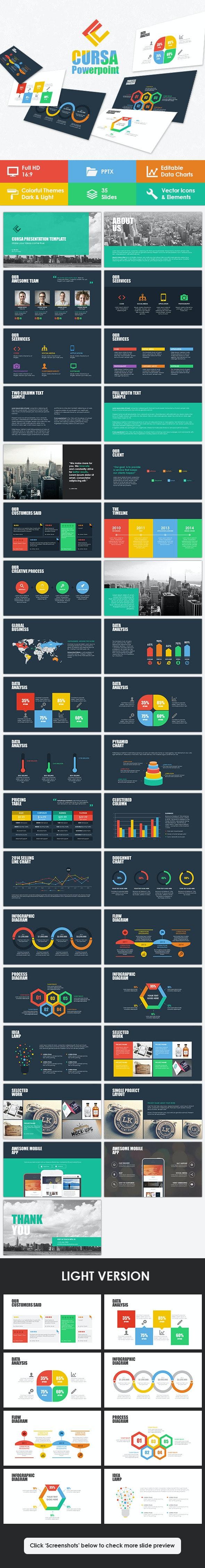 Cursa Powerpoint Template - Business PowerPoint Templates