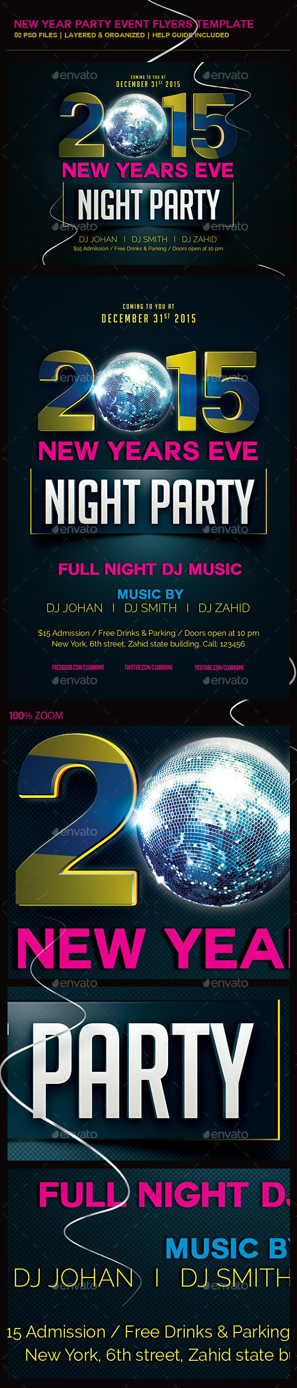 New Year Party Event Flyer - Clubs & Parties Events