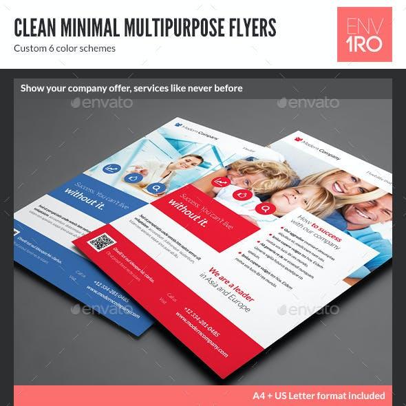 Clean Minimal Multipurpose Flyers vol. 5