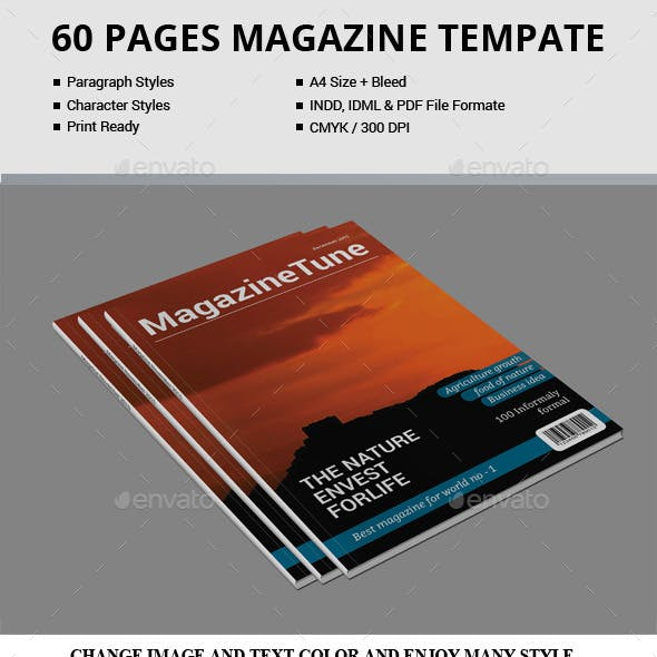 60 Pages Magazine Templates