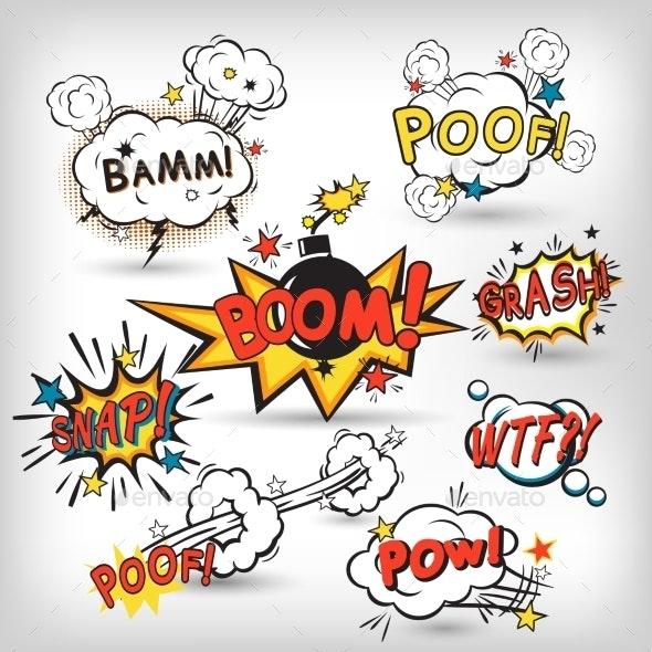 Comic Boom Set - Decorative Symbols Decorative