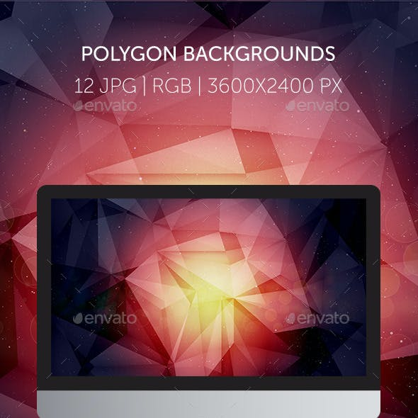 12 Amazing Cosmic Polygon Backgrounds