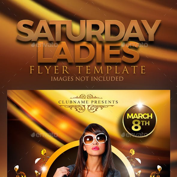 Saturday Ladies Flyer Template
