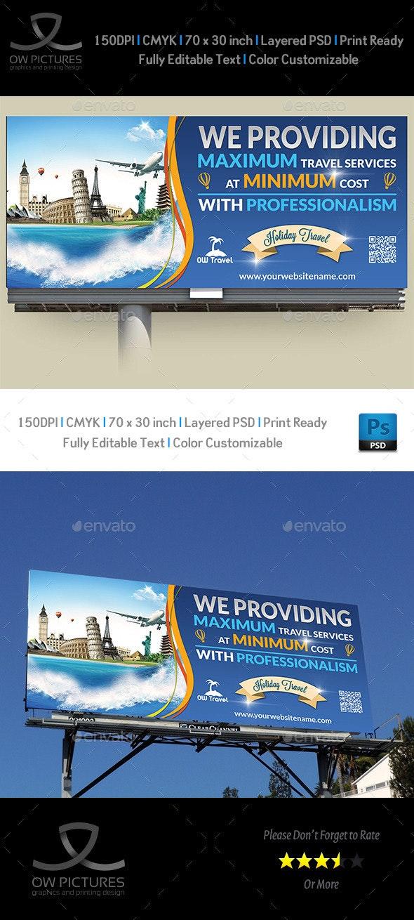 Travel Company Billboard Template