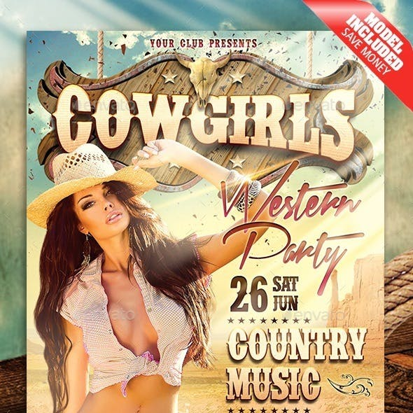 Cowgirls Western Party
