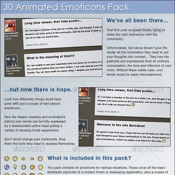 30 Animated Emoticons
