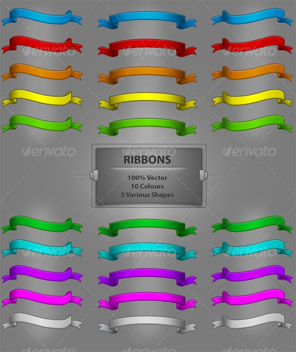 Ribbons - Decorative Symbols Decorative