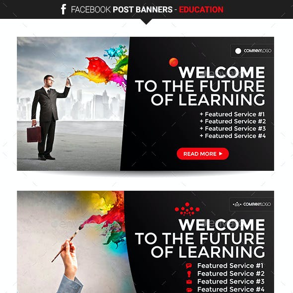 Facebook Post Banners - Education
