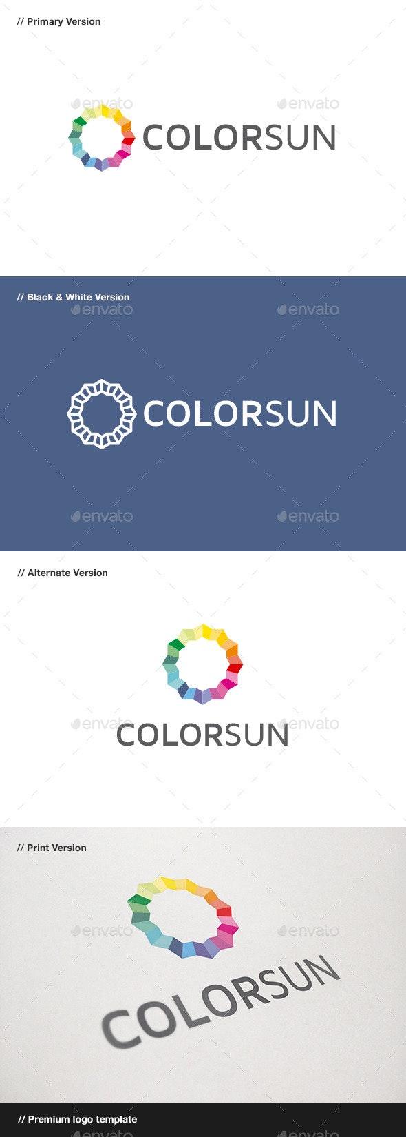 Color Sun Logo - Abstract Logo Templates
