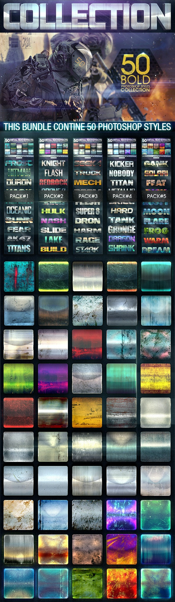 50 Metal Text Effects [Bundle V2] - Text Effects Styles