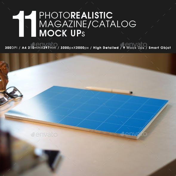 11 Photorealistic Magazine  Mock Up