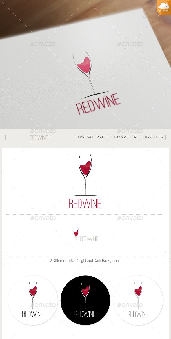 REDWINE - Food Logo Templates