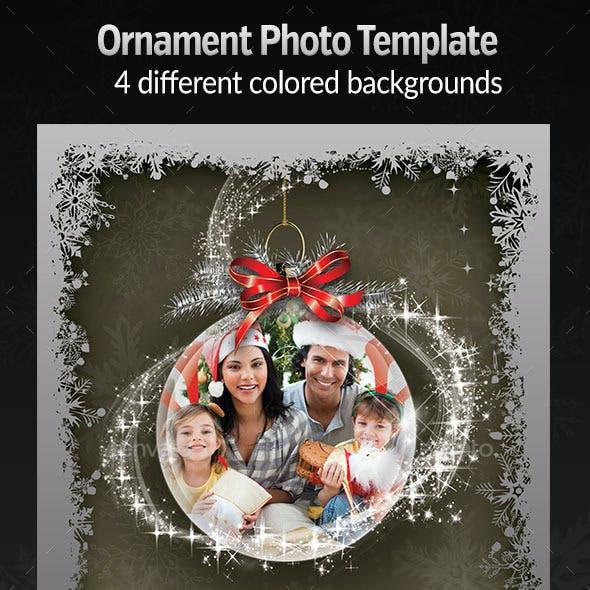 Ornament Photo Template