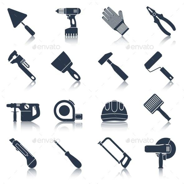 Repair construction tools black