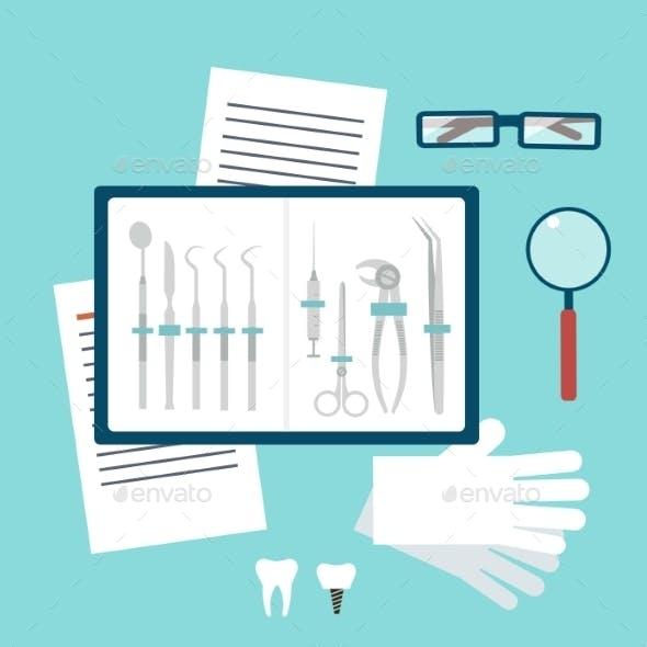Toolset Dentist Illustration