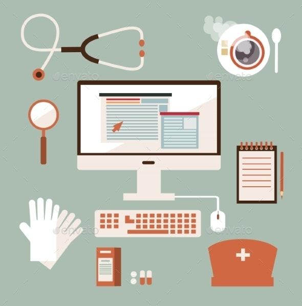Desk Doctor - Health/Medicine Conceptual