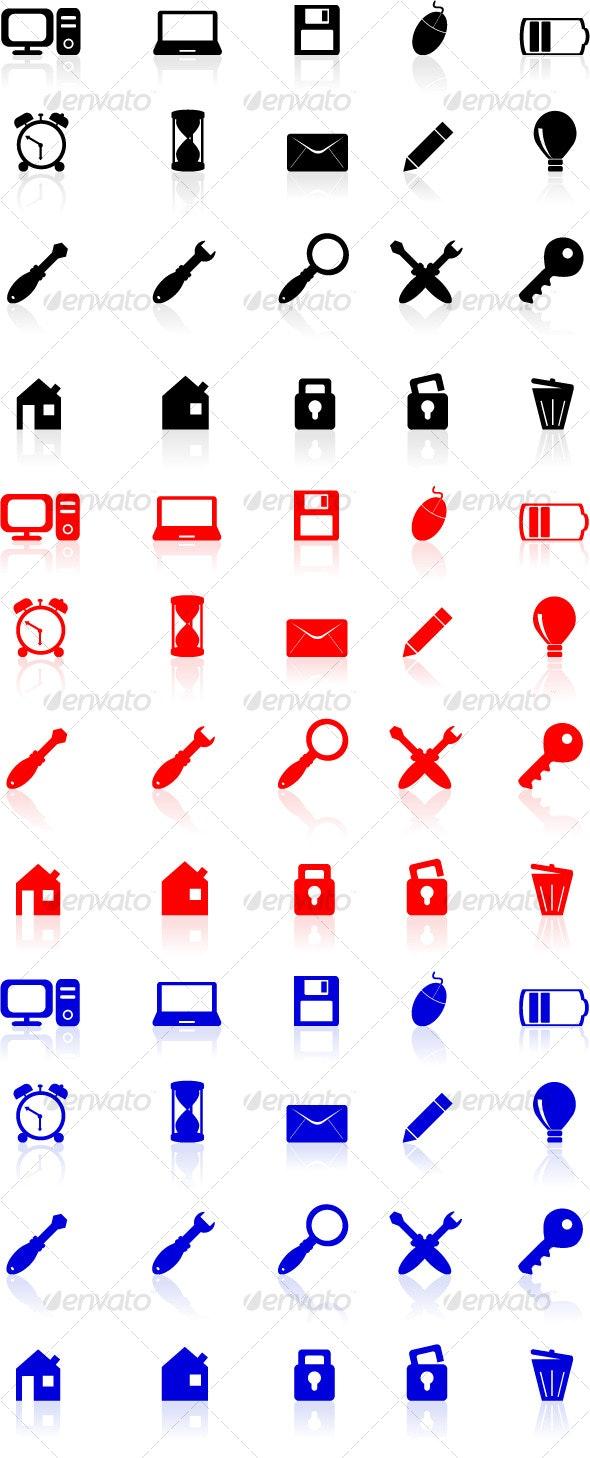 Computer Icons Set - Web Icons
