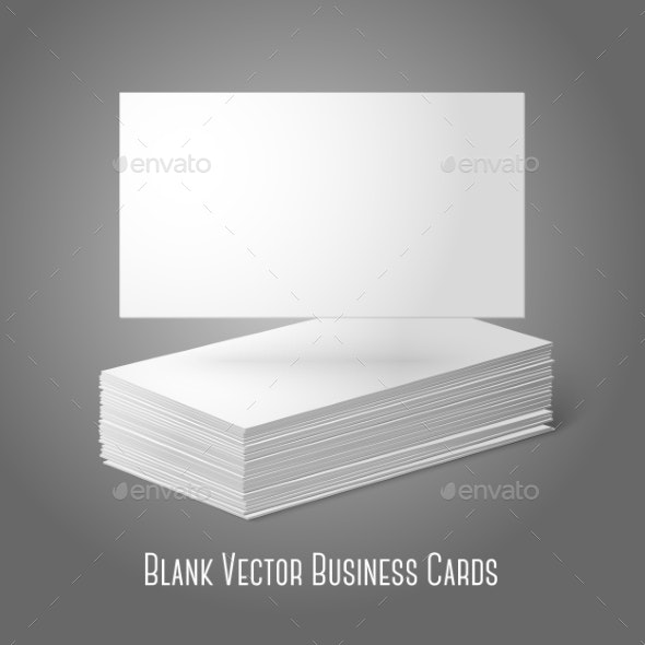 Blank Business Cards - Man-made Objects Objects