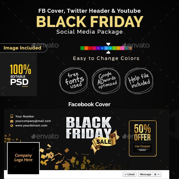 Black Friday Sale Social Media Design Pack