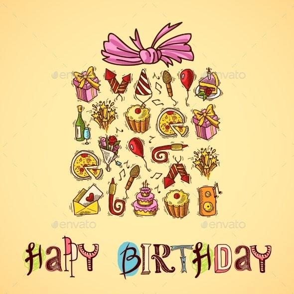 Birthday Card with Gift Box - Birthdays Seasons/Holidays