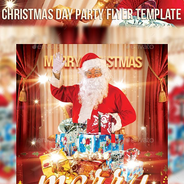 Christmas Day Party Flyer Template