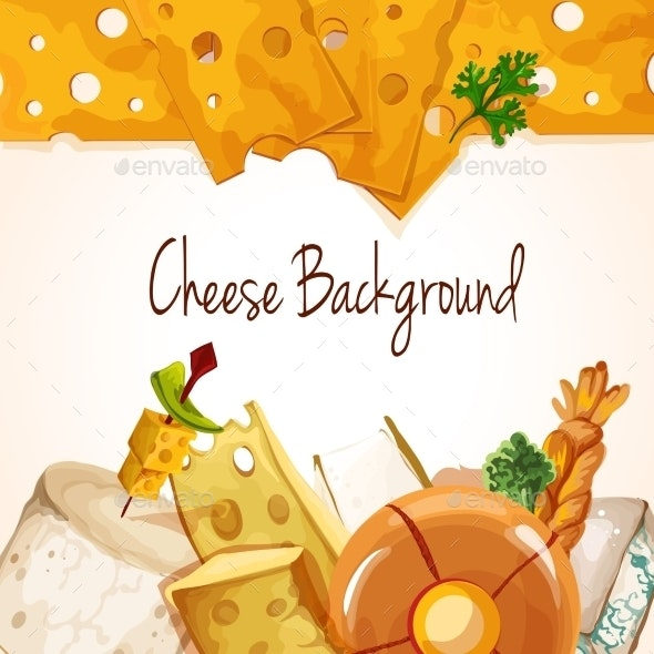 Cheese Assortment Background - Food Objects