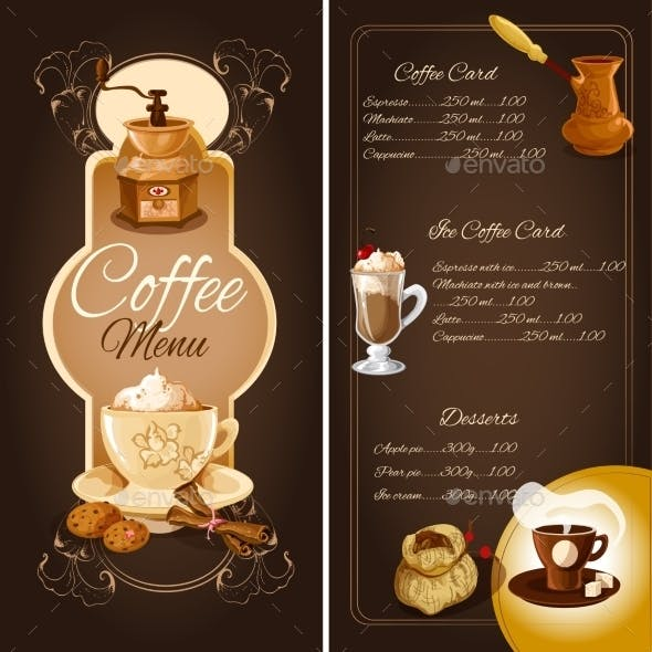Coffee Cafe Menu