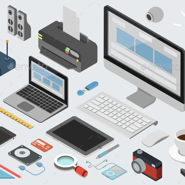 Technology Workplace Concept