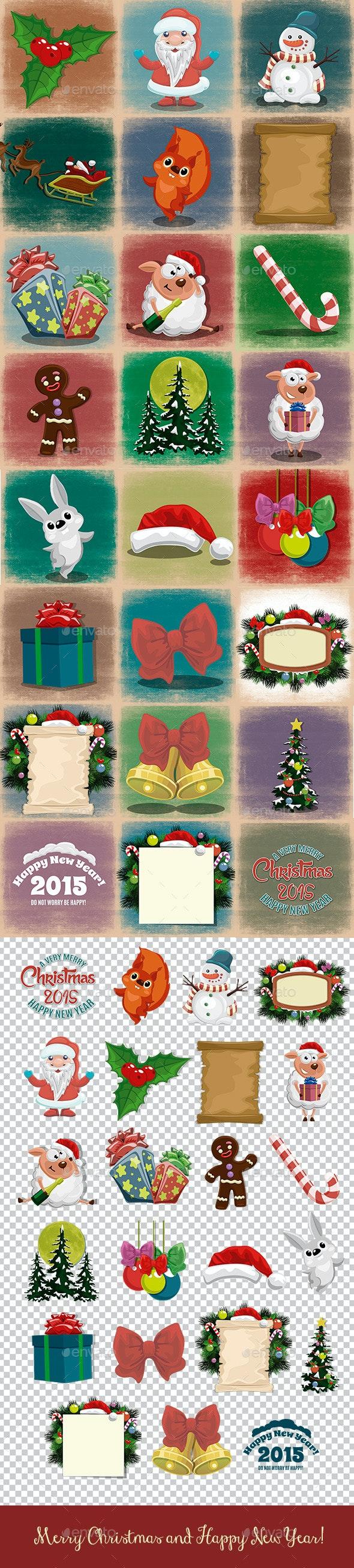 Set Of Christmas Illustrations