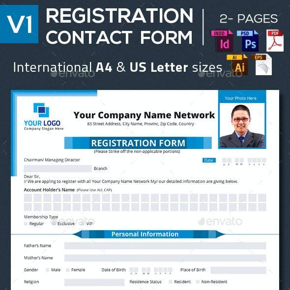 Registration  Contact  Form V1