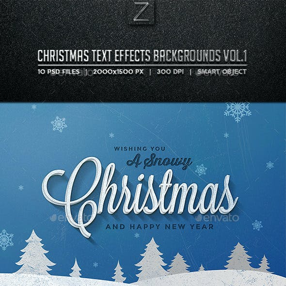 Christmas Text Effects Backgrounds Vol.1