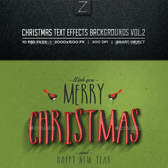 Christmas Text Effects Backgrounds Vol.2