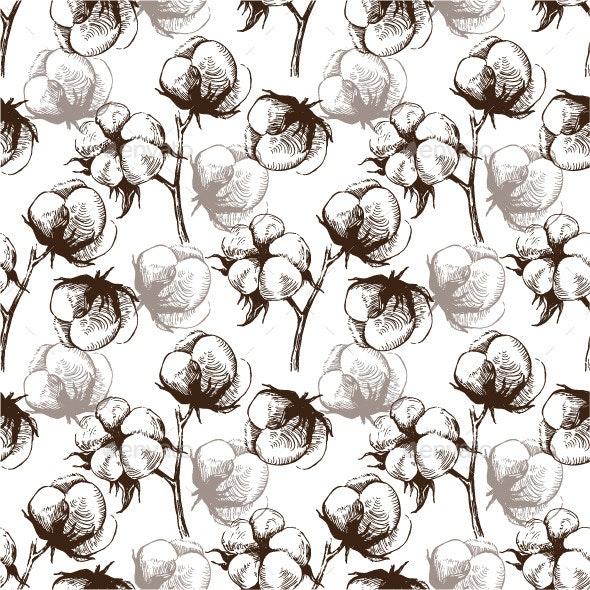 Cotton Seamless Pattern - Patterns Decorative