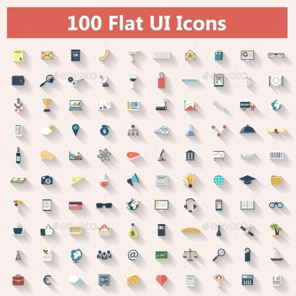 Set of Modern Icons in Flat Design