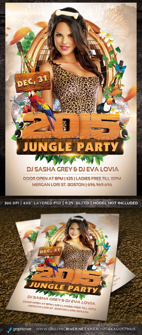New Year Jungle Party - Clubs & Parties Events