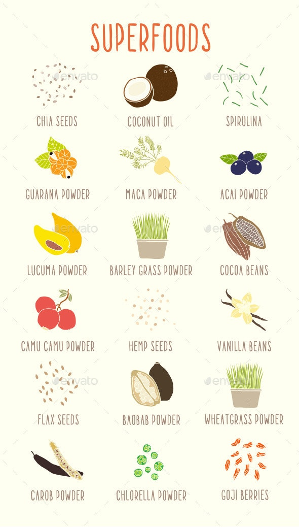 Superfoods - Food Objects