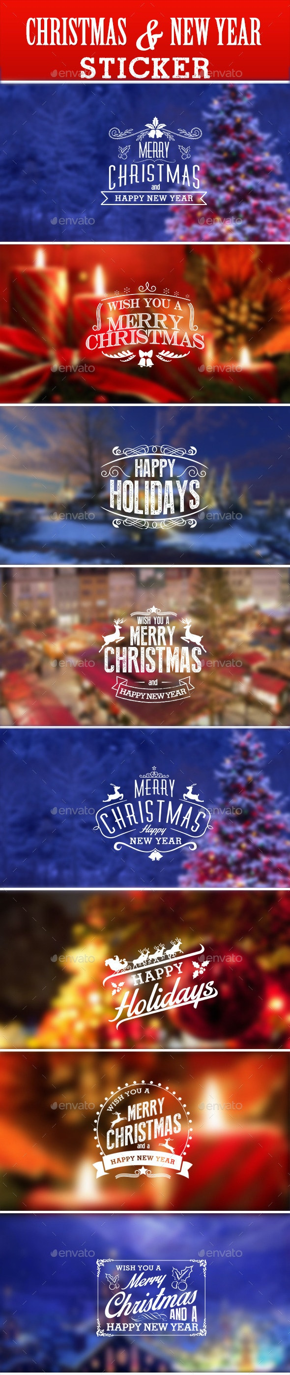Christmas & New Year Sticker - Badges & Stickers Web Elements