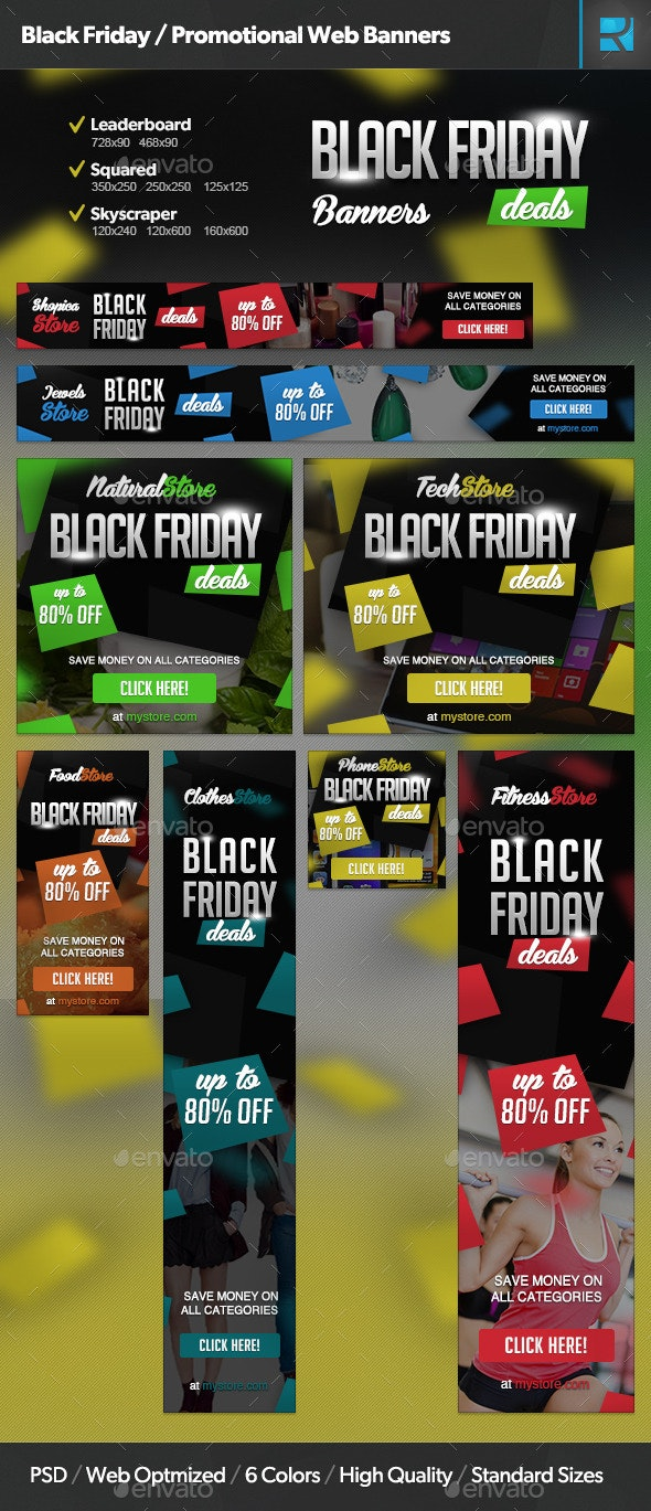 Black Friday / Promotional Web Banners - Banners & Ads Web Elements