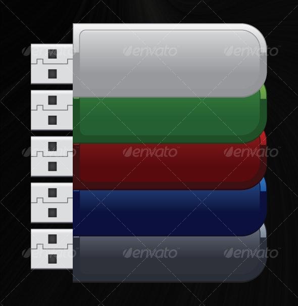 Vector USB drive - Technology Conceptual