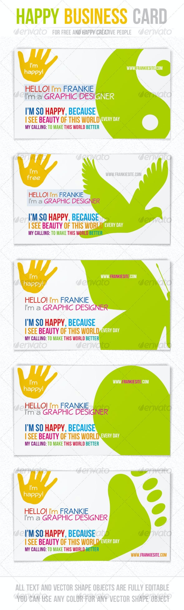 Happy Business Card - Creative Business Cards