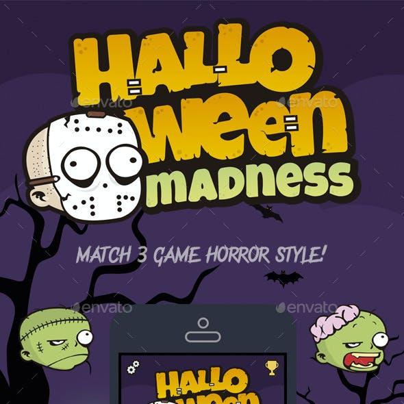 Halloween Madness Match 3 Game Assets