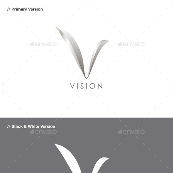 Vision - Abstract & Letter V Logo