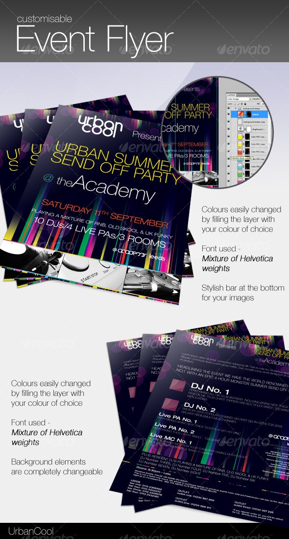 Customisable Event Flyer - Clubs & Parties Events