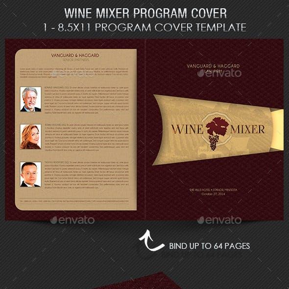 Wine Chocolate Mixer Program Cover Template