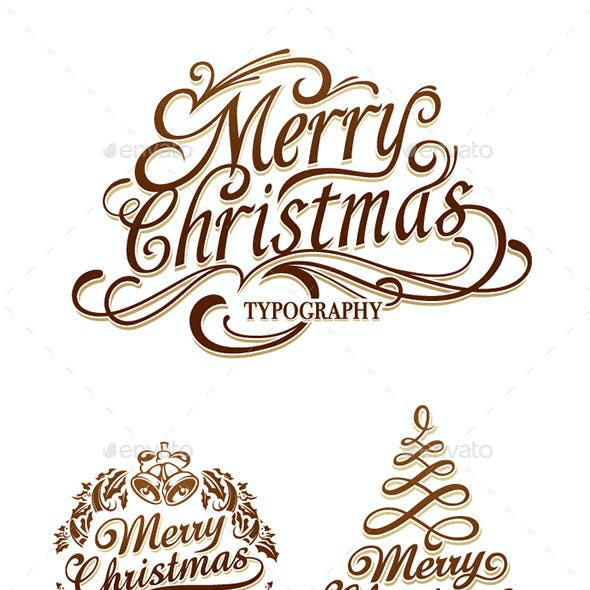 Christmas Typography Set
