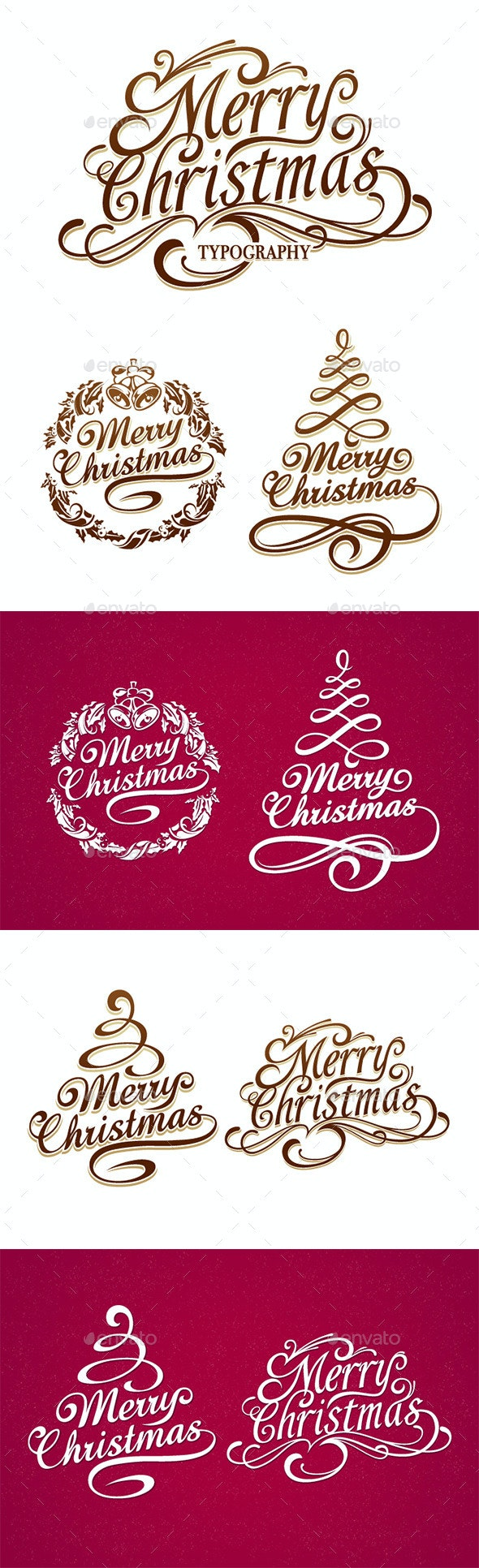 Christmas Typography Set - Christmas Seasons/Holidays