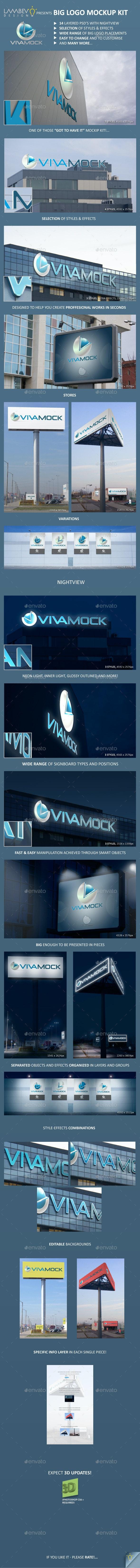 Day and Night Big Logo Mockup Kit - Logo Product Mock-Ups