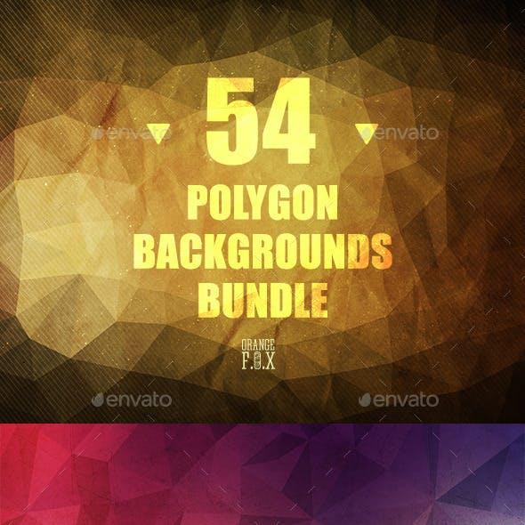 54 Polygon Backgrounds Bundle
