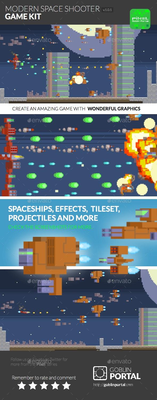 Modern Spaceship Shooter - Game Kits Game Assets